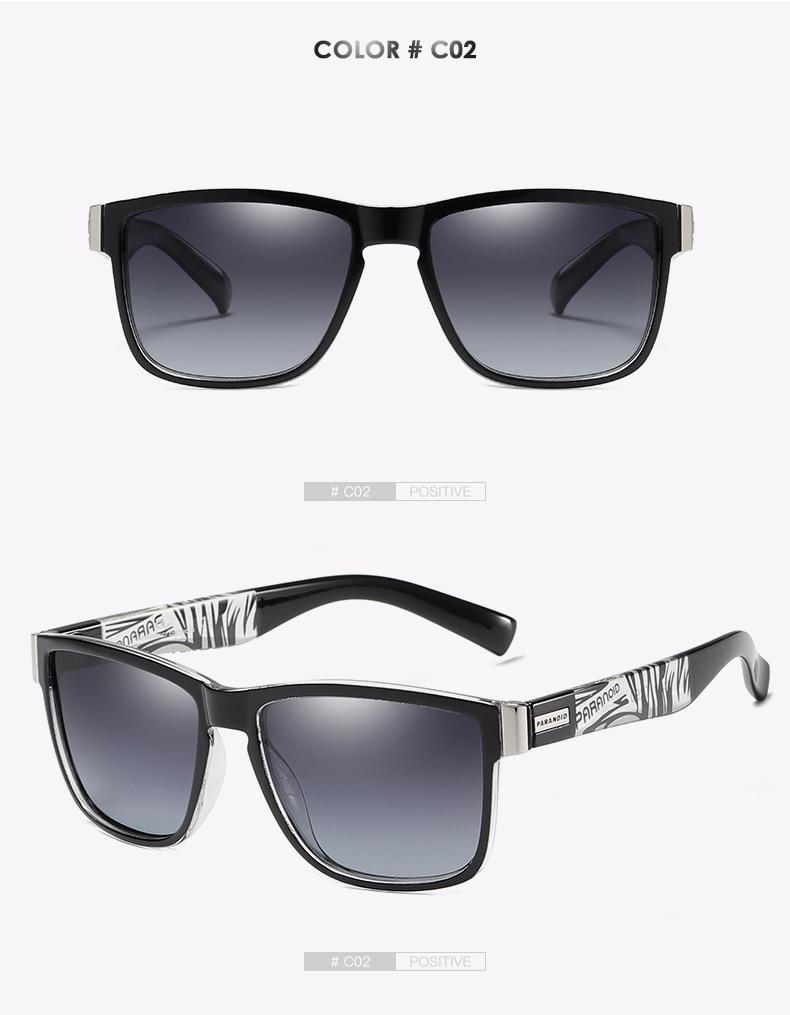 DUBERY Vintage Sunglasses Polarized Men's Sun Glasses For Men Driving Black Square Oculos Male 8 Colors Model 1518