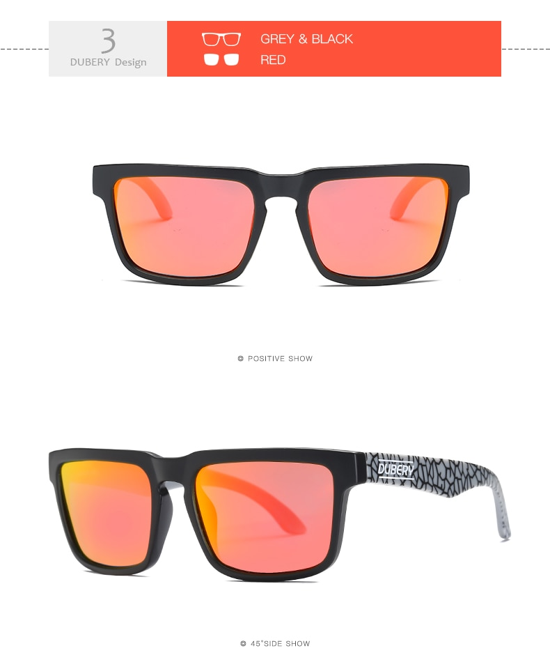 DBUERY Brand Design Summer Polarized Sunglasses Men's Driver Shades Male Sun Glasses For Men Clear Luxury Brand Designer Oculos