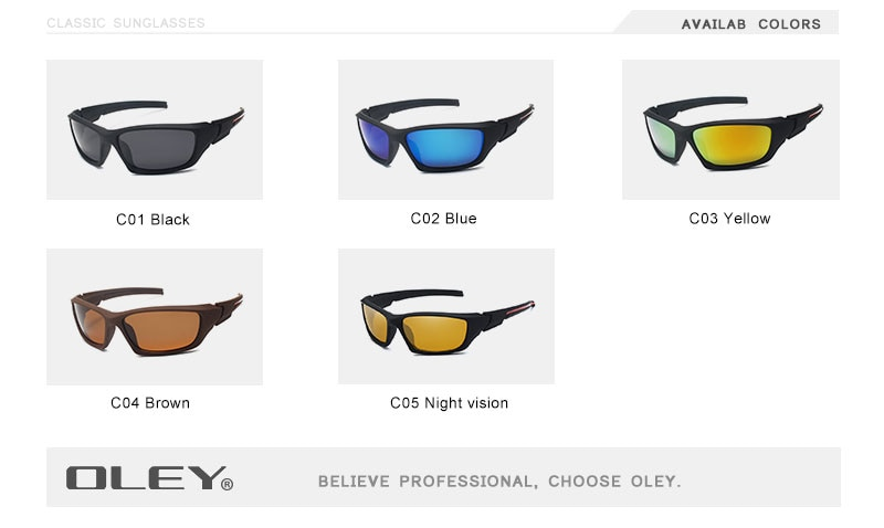 OLEY Fashion Guy's Sun Glasses Polarized Sunglasses Men Classic Design Vintage Mirror Driving Male Goggles With Brand Box
