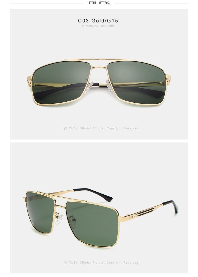 OLEY Brand Polarized Sunglasses Men Fashion Classic Square glasses For Women Oculos masculino Male Customizable logo Y1923