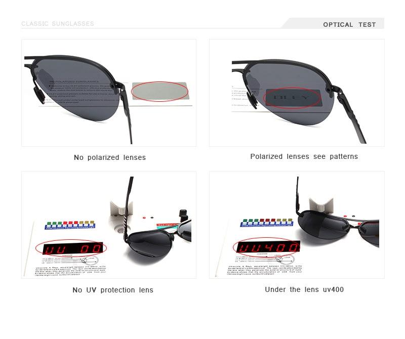OLEY Brand Polarized Sunglasses Men Classic pilot sun glasses Driving anti-glare UV400 goggles For Men women YA541