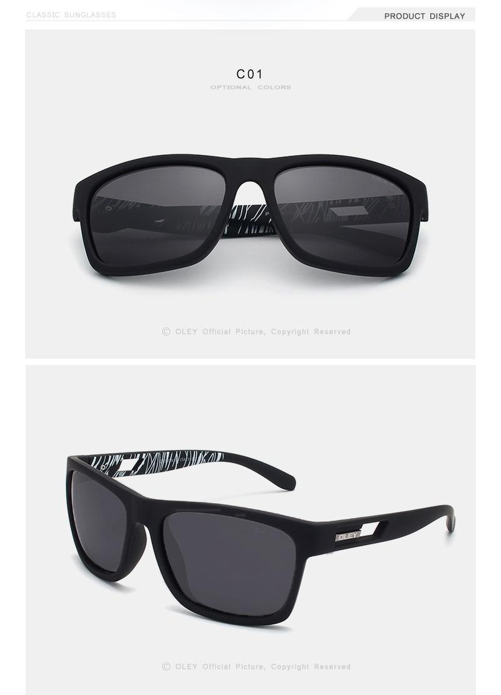 Fashion Guy's Sunglasses From OLEY Polarized Sun Glasses Classic TR90 women goggles 7-in-1 luxury box Customizable logo YG203