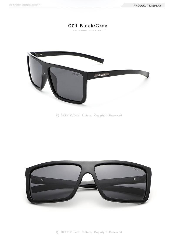 OLEY classic polarized sports sunglasses fashion photochromic goggles stretch paint night vision glasses Support custom logo