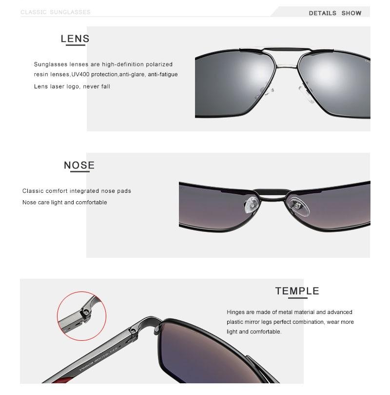 OLEY Brand Design Classic Pilot Polarized Sunglasses Men's Aluminum Color-Change Lens Goggles Oculos de sol Accept custom logo