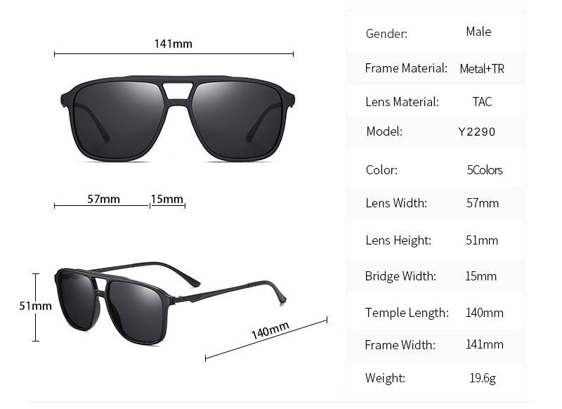 OLEY High Quality TR90 Sunglasses Polarized Men's