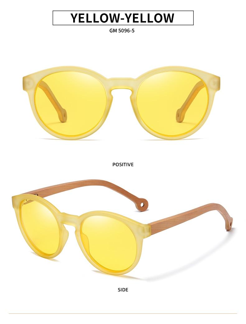 Sunglasses Handmade Nature Bamboo Polarized Sunglasses