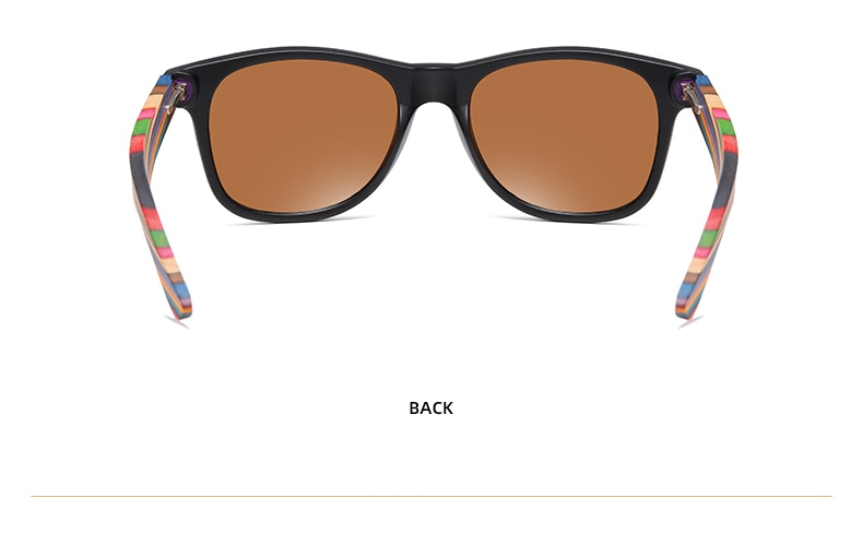 Polarized PC Frame With Wooden Legs Sunglasses