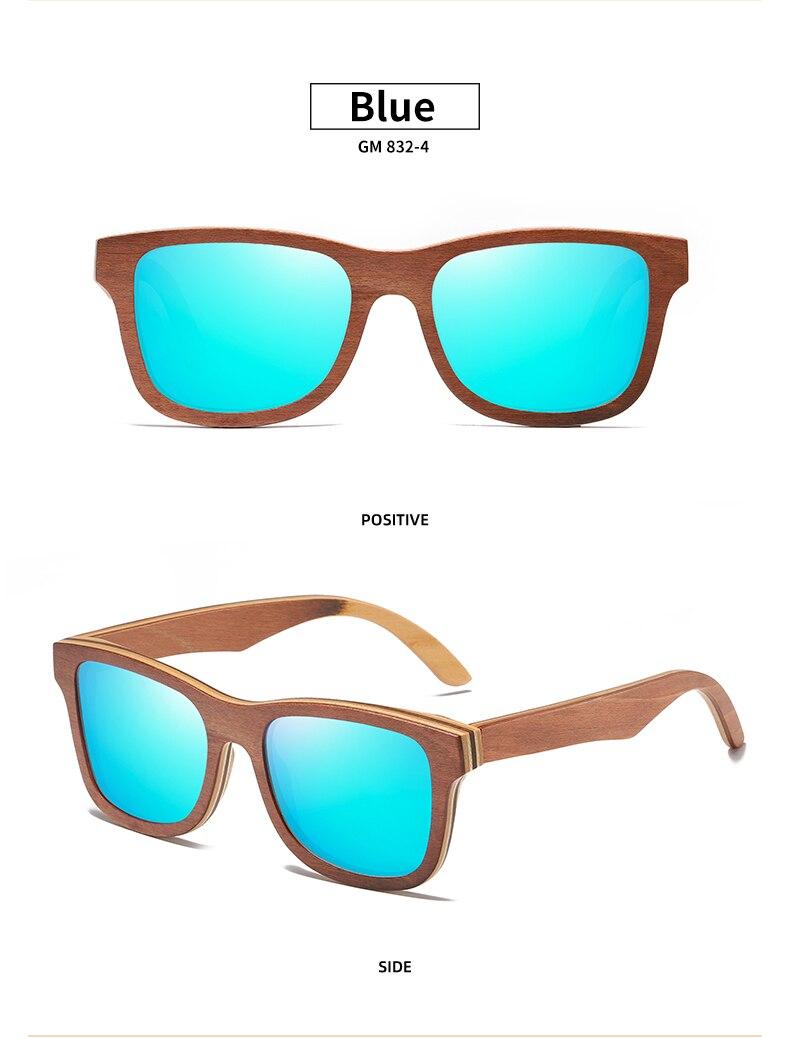Skateboard Wood Sunglasses Handmade