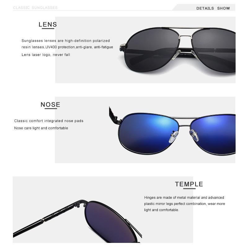 Sunglasses Brand Designer Pilot Polarized