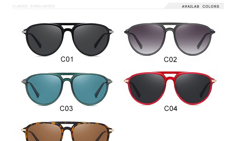 Polarized Sunglasses Oval Women Fashion