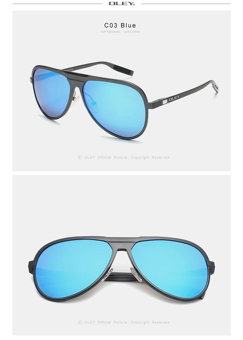 Aluminum magnesium Polarized Sunglasses Classic pilot
