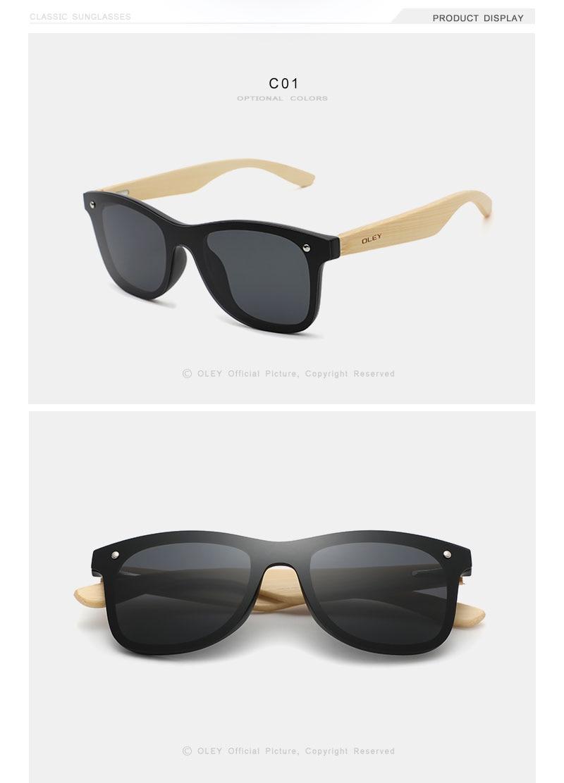 Natural bamboo Sunglasses