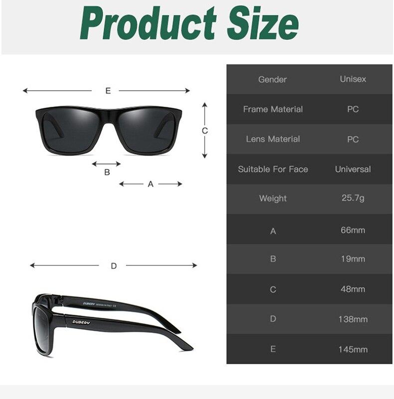 New Square Polarized Sunglasses