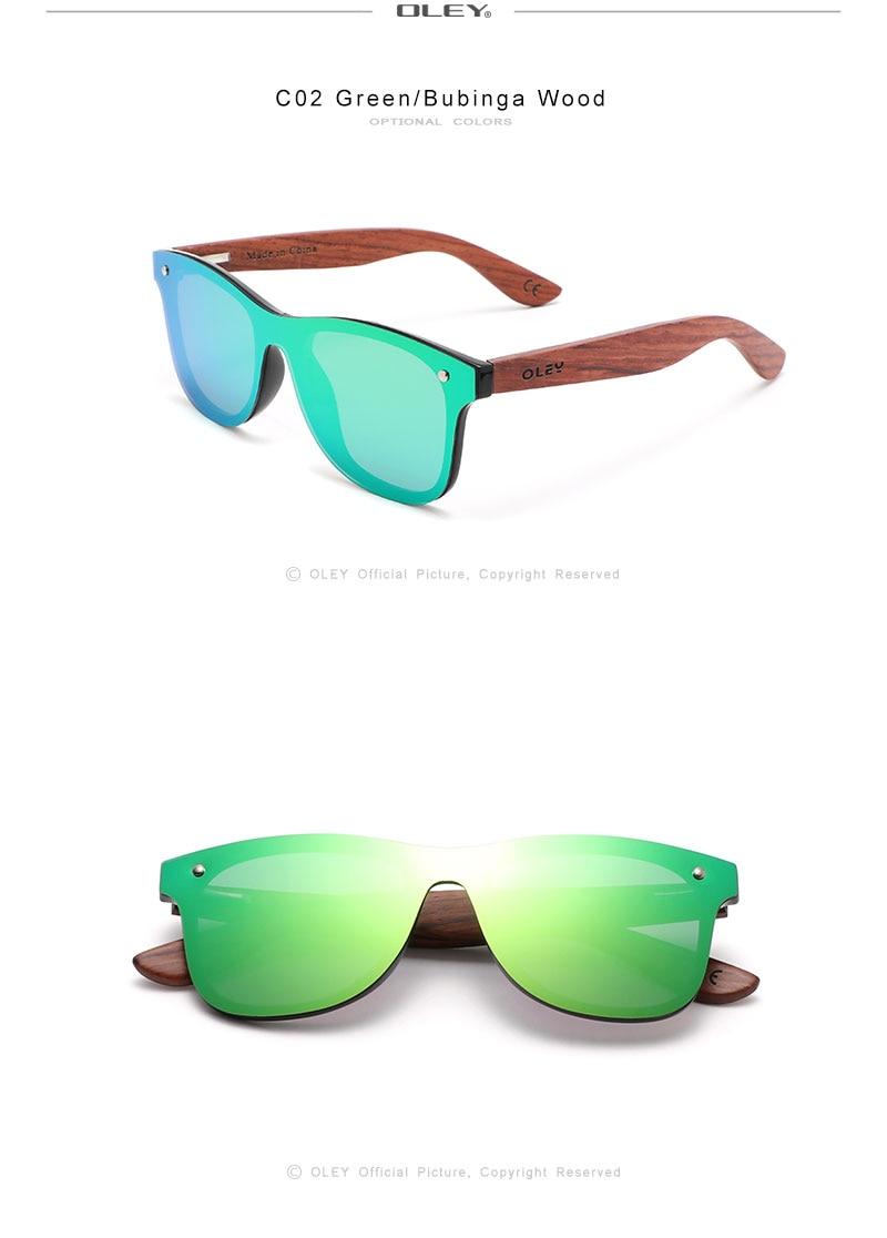 Polarized Sunglasses Men Fashion Eco-friendly Bamboo