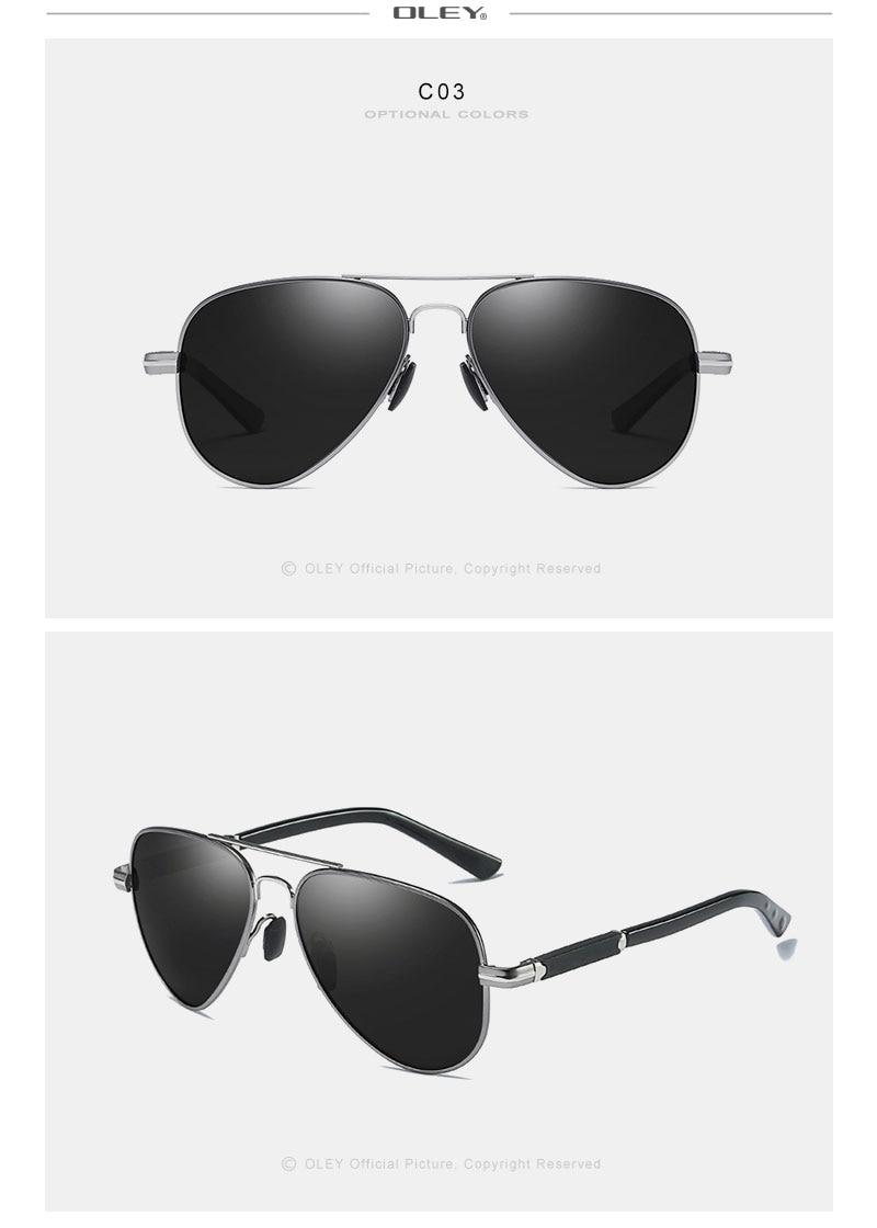 Aluminum pilot Sunglasses Polarized