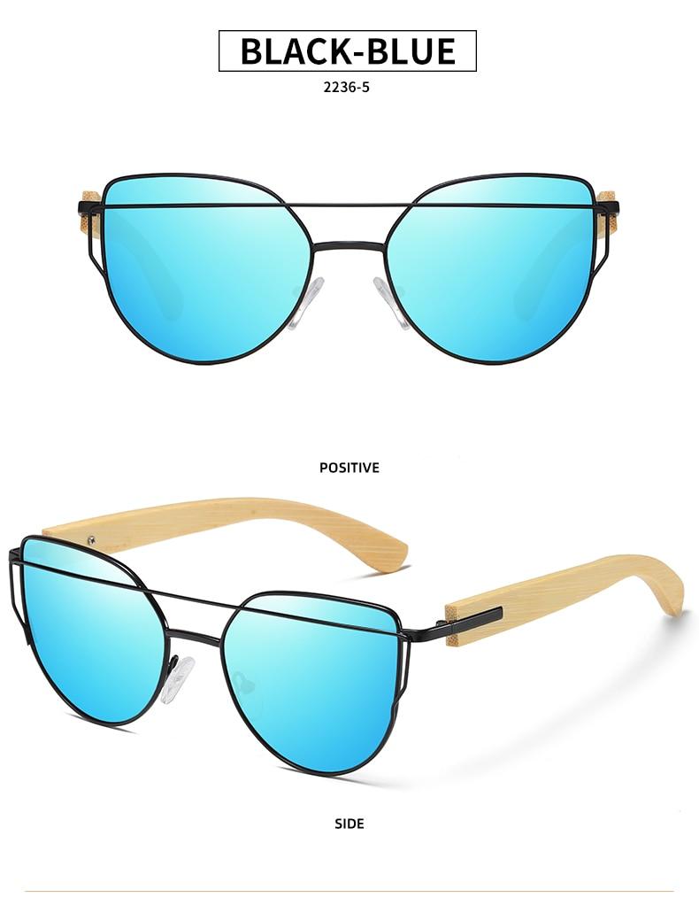 Bamboo Cat Eye Sunglasses Polarized